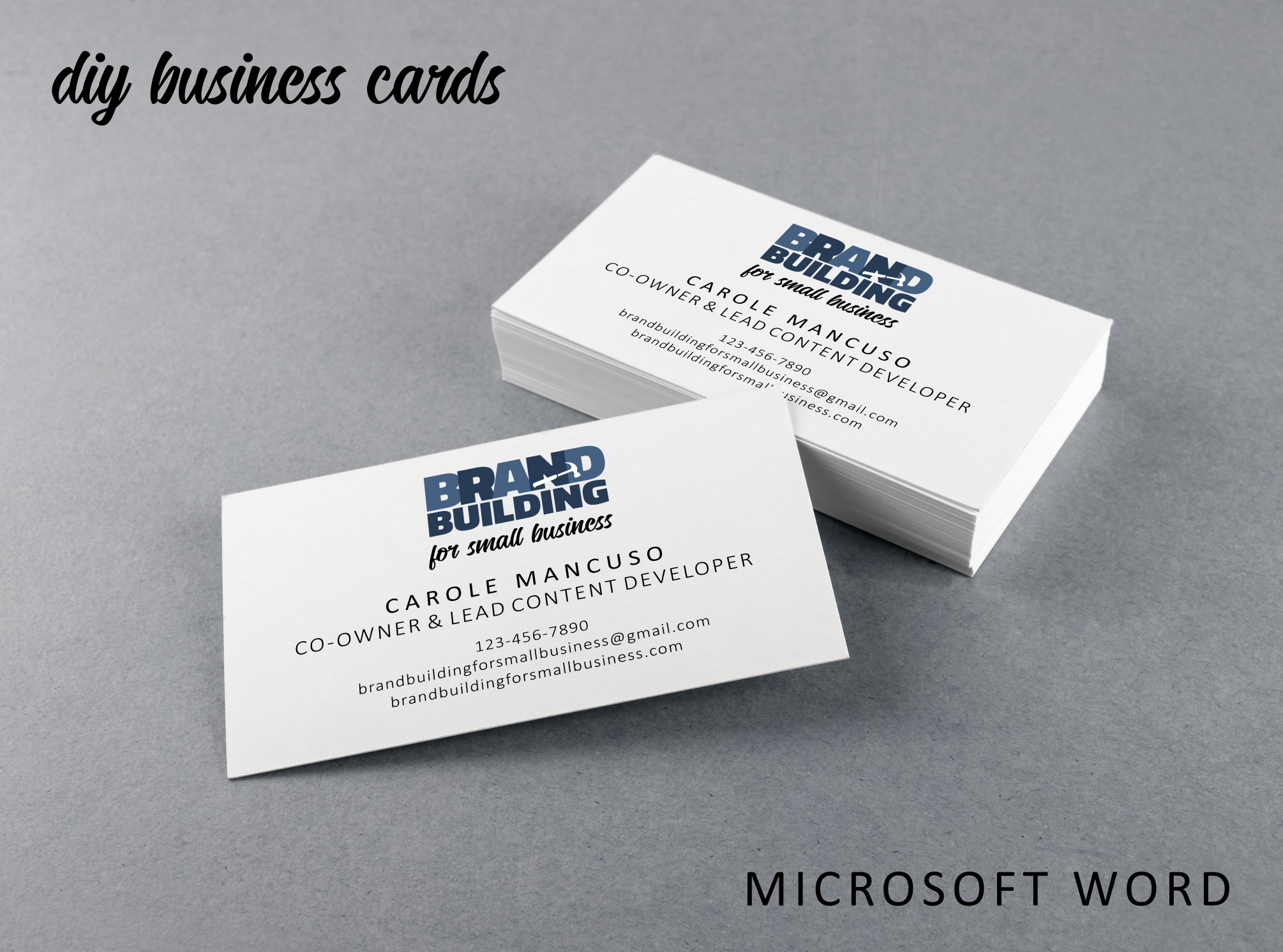 How To Set Up Simple Print And Cut Business Cards In Microsoft Word Brand Building For Small Business
